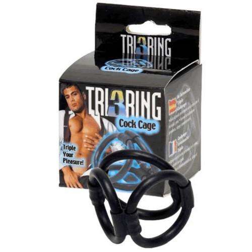 Klatka na penisa - Tri Ring Cock Cage