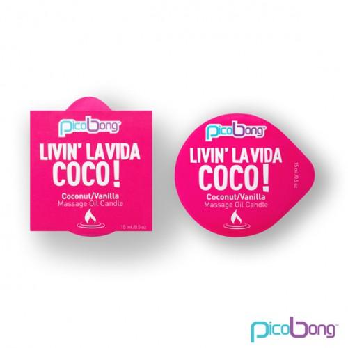 PicoBong - Świeca do masażu - Coconut...