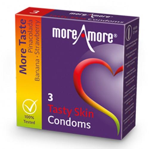 Prezerwatywy - MoreAmore Condom Tasty...
